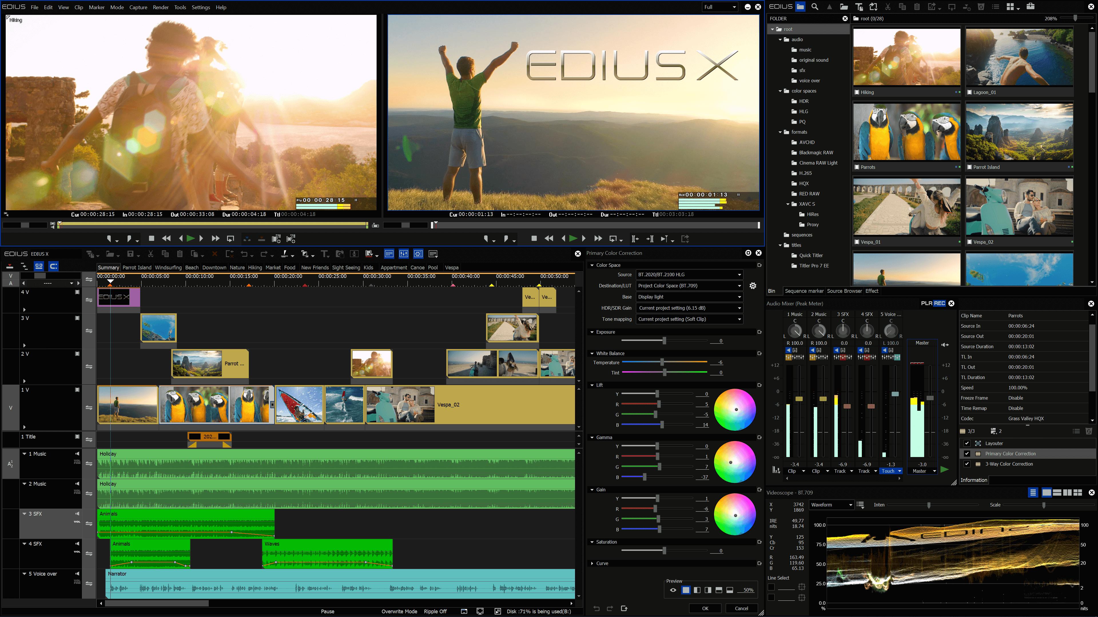 1_Main Screenshot EDIUS X